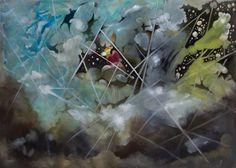 "Saatchi Art Artist Ricardo Bullemore; Painting, ""Sinfonía del nuevo mundo (sold)"" #art"
