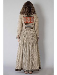 Description: It is a cotton block printed pleated dress with front button down. Length is Size Chart - XS - Chest : Waist : Hip : Shoulder : Salwar Designs, Kurti Neck Designs, Blouse Designs, Pakistani Dresses, Indian Dresses, Indian Outfits, Kurta Patterns, Dress Patterns, India Fashion