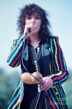 Ann Wilson of heart at day on the green Oakland, California 1981.