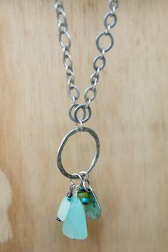 Antique Sterling Silver plated necklace 32 with Sea by LeoandLovey Jewelry ideas and jewelry making $55