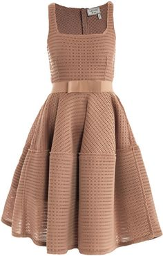 Honeycomb Open-Weave Dress - Lyst