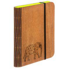 Libreta con cubierta de madera y cuaderno de papel reciclado de dasdesignco en Etsy