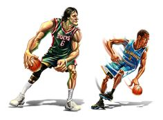 NBA stars 3 by A-BB.deviantart.com on @deviantART