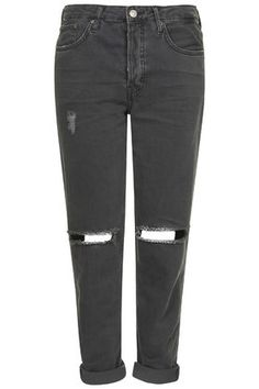 MOTO Washed Black Ripped Hayden Jeans
