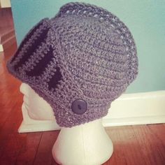 Crochet knight hat
