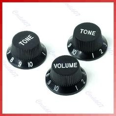 [Visit to Buy] B39Hot Sell Black Guitars Strat Knob 1-Volume 2-Tone Control Knobs for Stratocaster Free Shipping #Advertisement