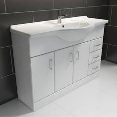 Sienna White 1200 Vanity Unit and Basin
