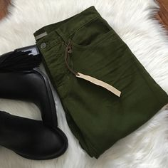 Vince forest green jeans Soft and perfectly comfy jeans. Brand new. Dark green. Vince Jeans