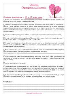 Check list madrinhando - Organizando o casamento by vivicki via slideshare