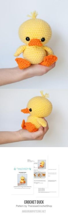 Melissa's Crochet Designs: Adorable Duck amigurumi pattern