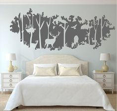 Deer Nursery Wall Decals - WallDecal home decor ideas Deer Nursery, Nursery Wall Decals, Nursery Room, Boy Room, Decals For Walls, Vinyl Decals, Nursery Murals, Girl Nursery, Room Wall Decor