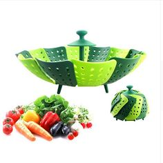 Multifunction Cooking Collapsible Plastic kettle Steamer Poacher Cooker Food Vegetable Bowl Basket Kitchen Cooking Tool silicone