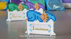 DIY Baby tag name hama mini perler beads by Rachel - Mes Petits Bonheurs
