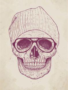 Cool Skull - Balazs Solti   Cire seu quadro com essa imagem https://www.onthewall.com.br/ilustracao/cool-skull #quadro #canvas #moldura #decor #decoracao