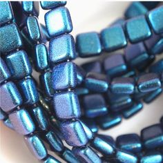 Items similar to Czech Mates 2 Hole tile beads-Polychrome Indigo Orchid- 50 pieces (CZ CM PIO) on Etsy Deep Teal, Teal Blue, Jewelry Making Supplies, Turquoise Bracelet, Indigo, Two By Two, Tile, My Etsy Shop, Beaded Bracelets
