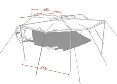 Diy Roof Top Tent Diy Awning Off Road Car Roof Awning