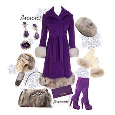 """1960's Lilli-Ann Purple Wool & Fox Fur"" by florymcintee ❤ liked on Polyvore featuring Christian Louboutin, Michael Kors, Travelon, Overland Sheepskin Co. and Dolce&Gabbana"