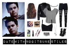 """date with Nogitsune Stiles (Teen Wolf)"" by lexyvampire ❤ liked on Polyvore featuring Sisters Point, Dolce&Gabbana, Charlotte Russe, Lauren Wolf, NARS Cosmetics, Maybelline, Casetify, Lottie, date and TeenWolf"