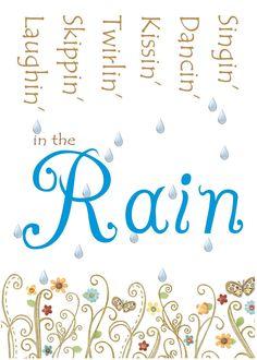 Free In the Rain Printable