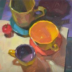 "Daily Paintworks - ""A Colorful Reunion"" - Original Fine Art for Sale - © Carol Marine"