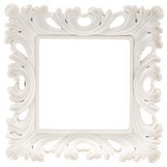 "5"" x 5"" Cream White Open Cut Square Scatter Frame"