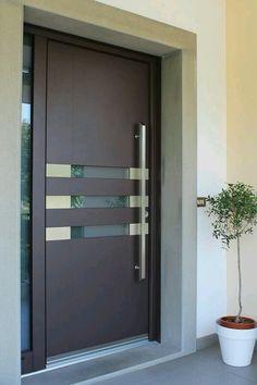 ideas main door design modern decor for 2019 Contemporary Front Doors, Modern Front Door, Wooden Front Doors, The Doors, Modern Exterior Doors, Panel Doors, Wooden Door Design, Main Door Design, Front Door Design