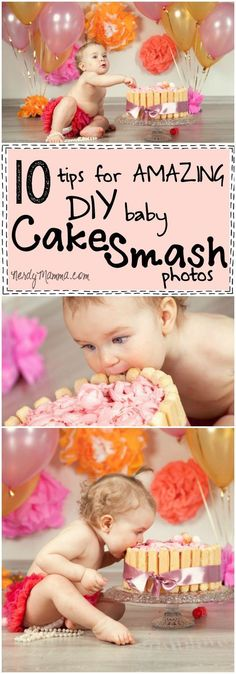 I love these 10 tips for amazing DIY baby cake smash photos...I totally adore how easy she makes it seem!