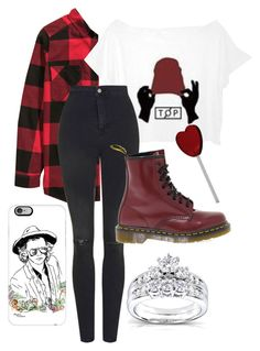 """""""Top Concert"""" by msdisneyfreak ❤ liked on Polyvore featuring interior, interiors, interior design, home, home decor, interior decorating, Topshop, Dr. Martens, Casetify and Kobelli"""
