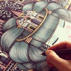 WIP @Pictoplasma #koralie #pictoplasma @rotringofficial #rotring www.koralie.com Posca Art, Mother Art, Powerful Art, Graphic Patterns, Graphic Design, Street Artists, Cute Illustration, Art World, Cool Drawings