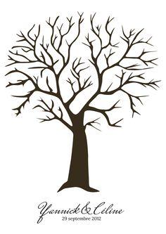 arbre à empreintes personnalisé...