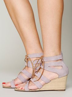 Free People Lace Cradle Mini Wedge, $138.00