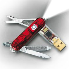 Swiss Army knife with a thumb drive