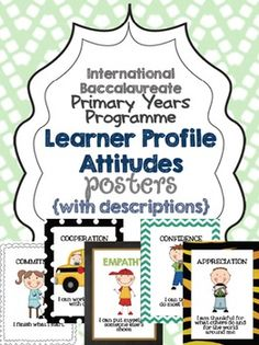 [IB Learner Profile] Printable Posters