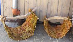 flechten mit weiden im garten   Rustikaler Holzkorb aus geflochtenen Weidenruten   Anleitung