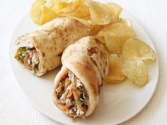 Indian Chicken Wrap recipe from Food Network Kitchen via Food Network