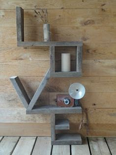 Shelf made out of 2x4s.