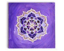 Crown Chakra Print ~ Giclee or Archival ~ Yoga ~ Sacred Geometry ~ Mandala ~ Decor ~ Fractal Lotus ~