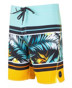 The Mirage Aggroculture Boardshort features a tie-up front, Aggrolite body, and screen printed logos.