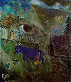 'The House with the Green Eye', 1944 - Marc Chagall