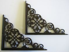 antique shelf brackets