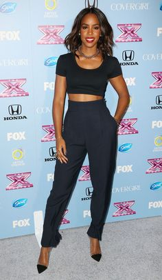 Kelly Rowland High-Waisted Pants - Kelly Rowland knew just how to pull off the high-waisted pants look.