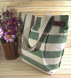 Canvas Tote Bag Waterproof Large Beach Bag by liliavaniniboutique #christmasgiftideas