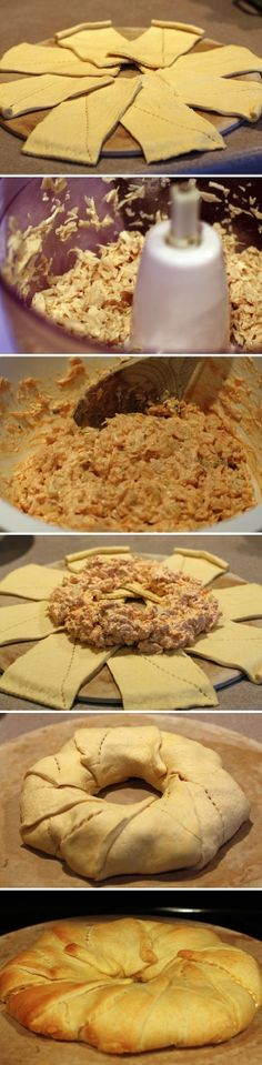 Buffalo Chicken Ring-baby shower food ideas---could make this with my BBQ pizza
