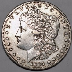 1894-S $1 Morgan Silver Dollar-Extremely Fine Free USA Shipping-XF