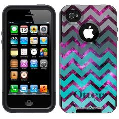 Otterbox Commuter Series Nebula Chevrons Grey Green Turquoise Hybrid Case for Apple iPhone 4 & 4S:Amazon:Cell Phones & Accessories