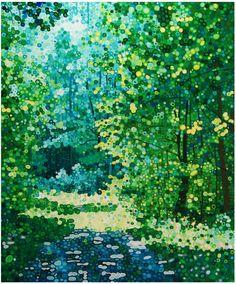 """Ewa Adams """"Blue Woods"""" acrylic on canvas"""