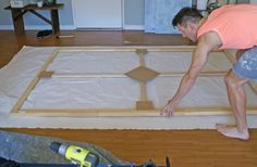 Planning a big DIY wall art project? Here's a great tutorial on how to create your own canvas.
