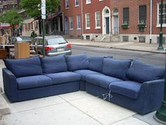 Denim Blue Sectional Sofa : denim sectional couch - Sectionals, Sofas & Couches