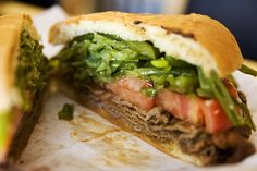 Authentic Chacarero - the Chilean national sandwich. So good…! one of the best sandwiche..., ,