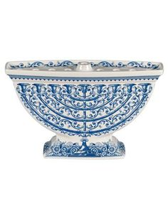 spode menorah. somehow manages to be both elegant and substantial